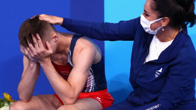 101 sportlasega koondis avas Tokyos medaliarve. Batuudihüpete kuldmedalist ei suutnud tulemust nähes emotsioone tagasi hoida