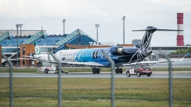 Nordica lennuk Tallinna lennujaamas