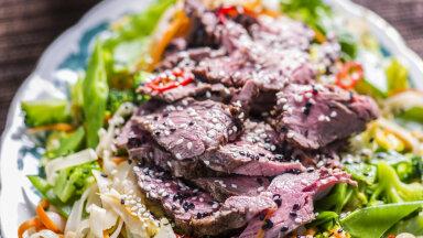 РЕЦЕПТ   Идея для летнего ужина в азиатском стиле! Теплый вьетнамский салат с говядиной
