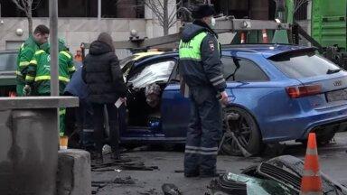 ВИДЕО   Центр Москвы частично перекрыли из-за страшного ДТП с участием известного блогера