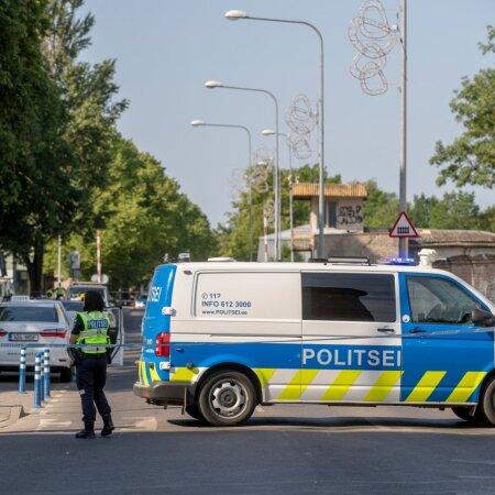 Politsei mõrvapaigal Tallinnas Telliskivis