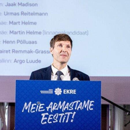 EKRE esitles täna enda Tallinna linnapeakandidaati - Martin Helmet