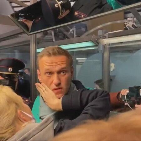 Navalnõi hetk enne kinnipidamist