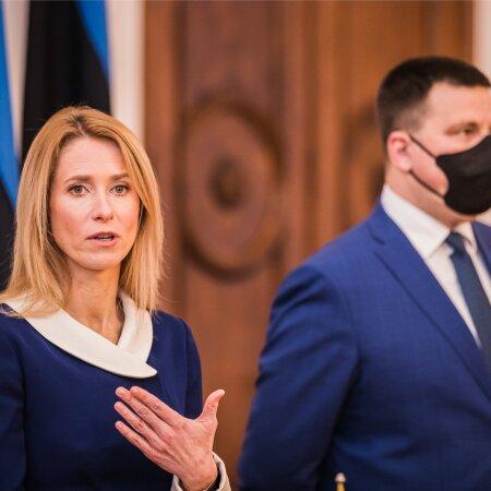 Kaja Kallas ja Jüri Ratas koalitsioonilepingu allkirjastamisel