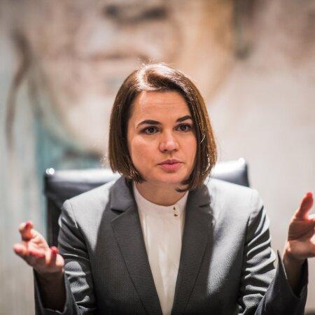 Valgevene opositsiooniliider Svetlana Tsihhanovskaja.