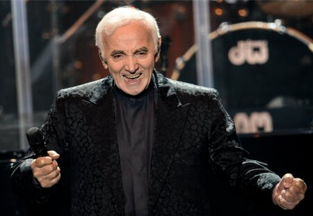 Charles Aznavour performs in Moscow