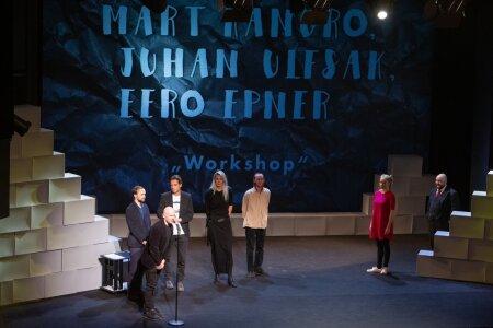 """Etenduskunstide ühisauhind lavastusele """"WORKSHOP"""" (teatriauhindade jagamine 2019. aastal)"""
