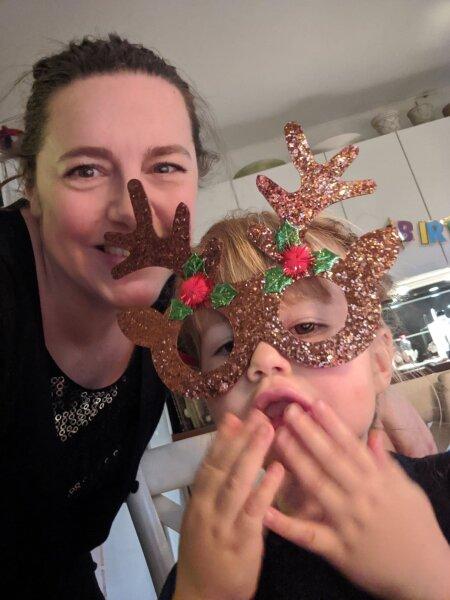 Тийна и ее дочь Сага