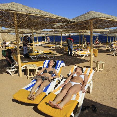 Rannapuhkajad Sharm el-Sheikhis.