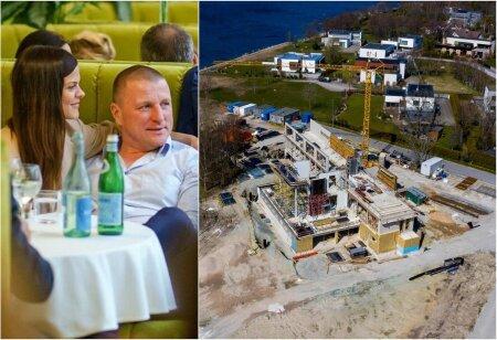 MAJA KERKIB: Ärimees Margus Kangro uue villa on projekteerinud arhitektuuribüroo Raine Karp. Vasakul Kangro koos elukaaslase Mai Pallinguga.