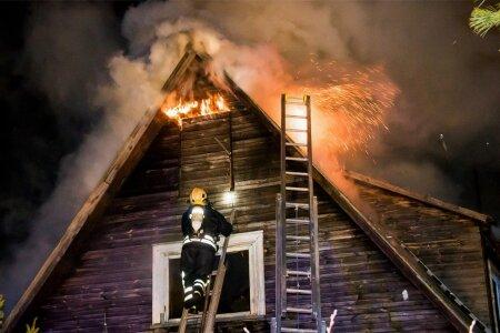 häirekeskus sai teate majapõlengust saaremaal, salme vallas, vintri külas teisipäeva õhtul kell22.05. helistaja teatel kadus majast elekter, seejärel tuli suitsu ja koheselt oli näha ka leeke