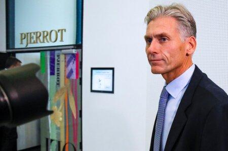 Thomas Borgen Danske panga pressikonverents lõppedes, kus ta teatas pangajuhi kohalt lahkumisest ja pank teatas rahapesu uurimise tulemustest