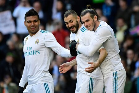 Casemiro, Karim Benzema ja Gareth Bale, Madridi Real