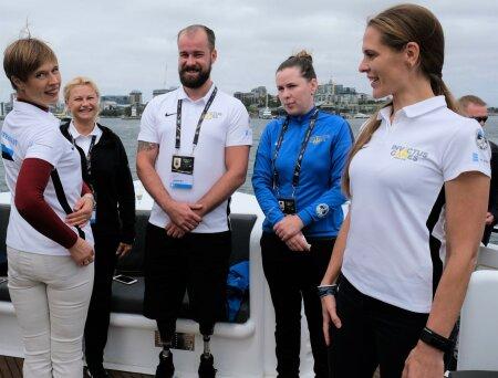 President Kersti Kaljulaid külastas Võitmatute Mänge