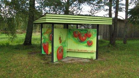 Kärsu bussipeatus Pärnumaal.