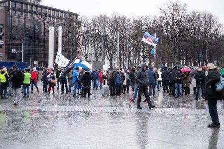 Suveräänsusliikumise Tark ja Terve Eesti meeleavaldus ÜRO rändeleppe vastu
