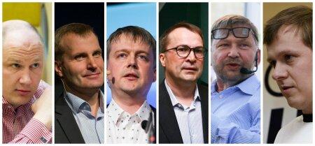 Helded ärimehed: (vasakult) Priit Alamäe, Karli Lambot, Jaan Tallinn, Margus Linnamäe, Heldur Meerits, Parvel Pruunsild. Lisaks kuulusid annetajate hulka Aivar Berzin ja Vahur Voll.