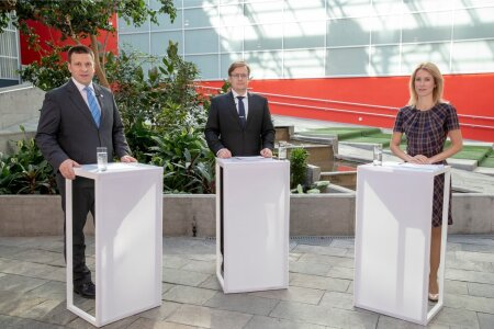 Jüri Ratase ja Kaja Kallase debati ettevelmistus