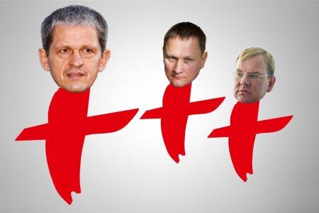 KOLM X-I:(vasakult paremale): Nerijus Numavičius, Mindaugas Marcinkevicius ja Gintaras Marcinkevicius.