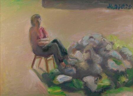 """Peeter Mudist """"Suvel"""" (1975, õli, lõuend, 73 x 100,5 cm). Alghind 12 000, haamrihind 33 000 eurot."""