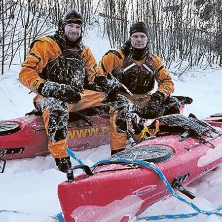 - Timo Palo ja Mart Reimann katsetasid Arktika-retkel kasutatavaid süstasid enne Eestis.