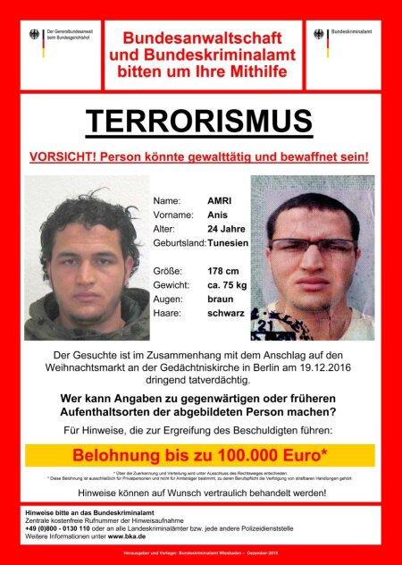 Berliini terrorirünnakus kahtlustatav Anis Amri