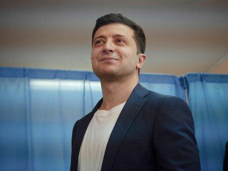 Kiev Vote du candidat Volodymyr Zelensky elections presidentielle en Ukraine