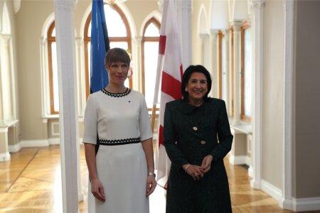 Eesti ja Gruusia president Keila-Joa lossis
