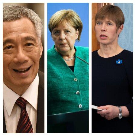 Singapuri peaminister Lee Hsien Loong, Saksamaa kantsler Angela Merkel ja Eesti president Kersti Kaljulaid.