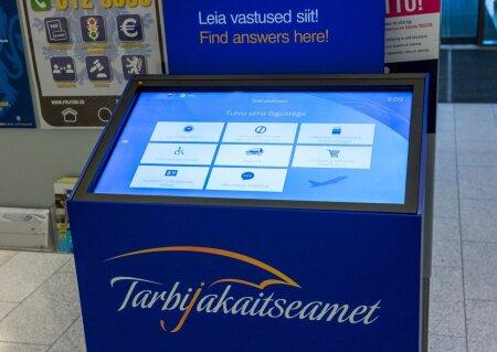 Tarbijakaitseameti iseteemindusterminal Tallinna lennujaamas
