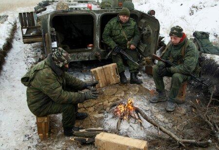 Venemeelsed võitlejad esmaspäeval Svitlodarski katla lähistel