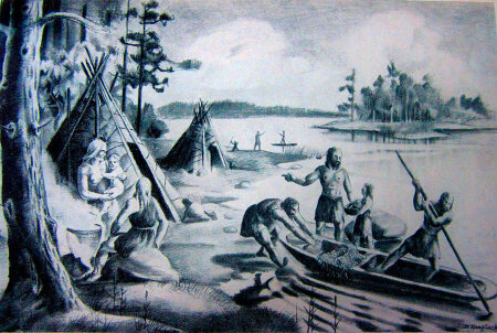 Meie esivanemad: Elu kiviaegses Eestis kunstnik Ott Kangilaski ettekujutuses.