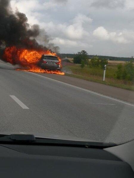 Tulekahju Peterburi maanteel