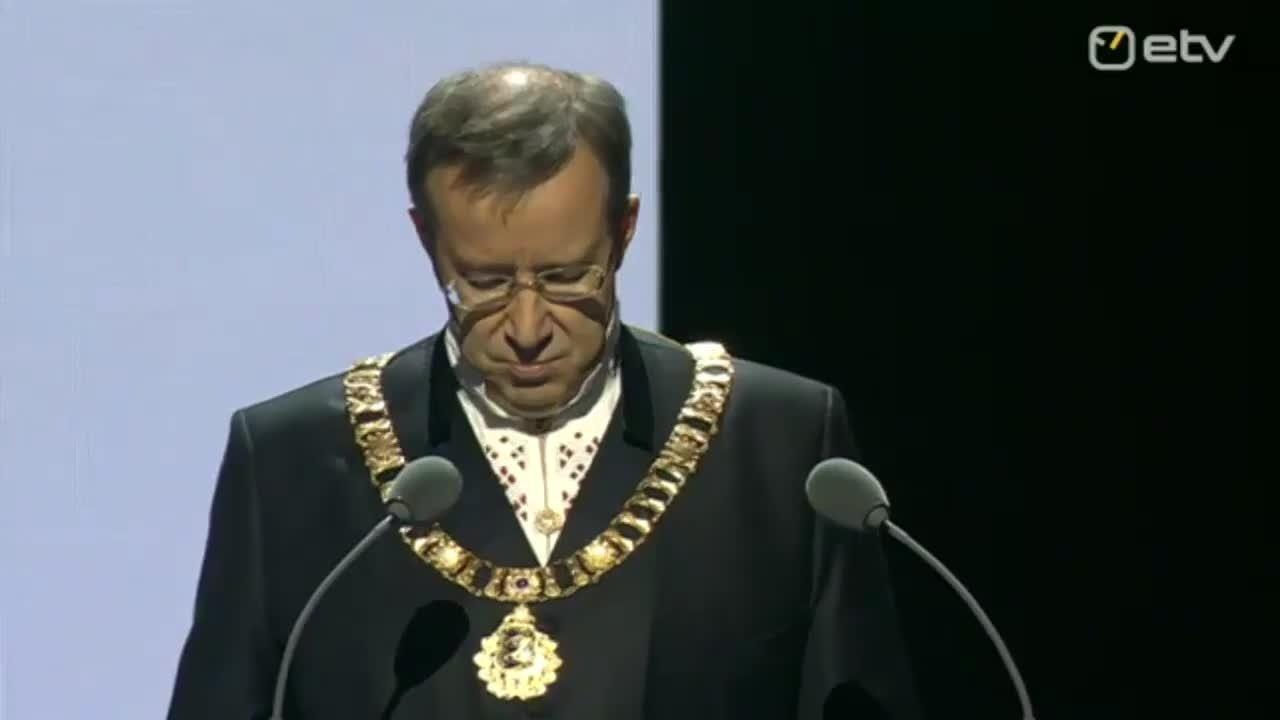 VIDEO:  President Toomas Hendrik Ilvese kõne Eesti Vabariigi 97. aastapäeval