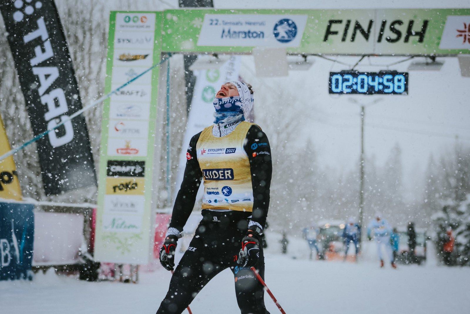 Alpilaadsetes talveoludes peetud Tamsalu-Neeruti maratoni võitis Sander Linnus