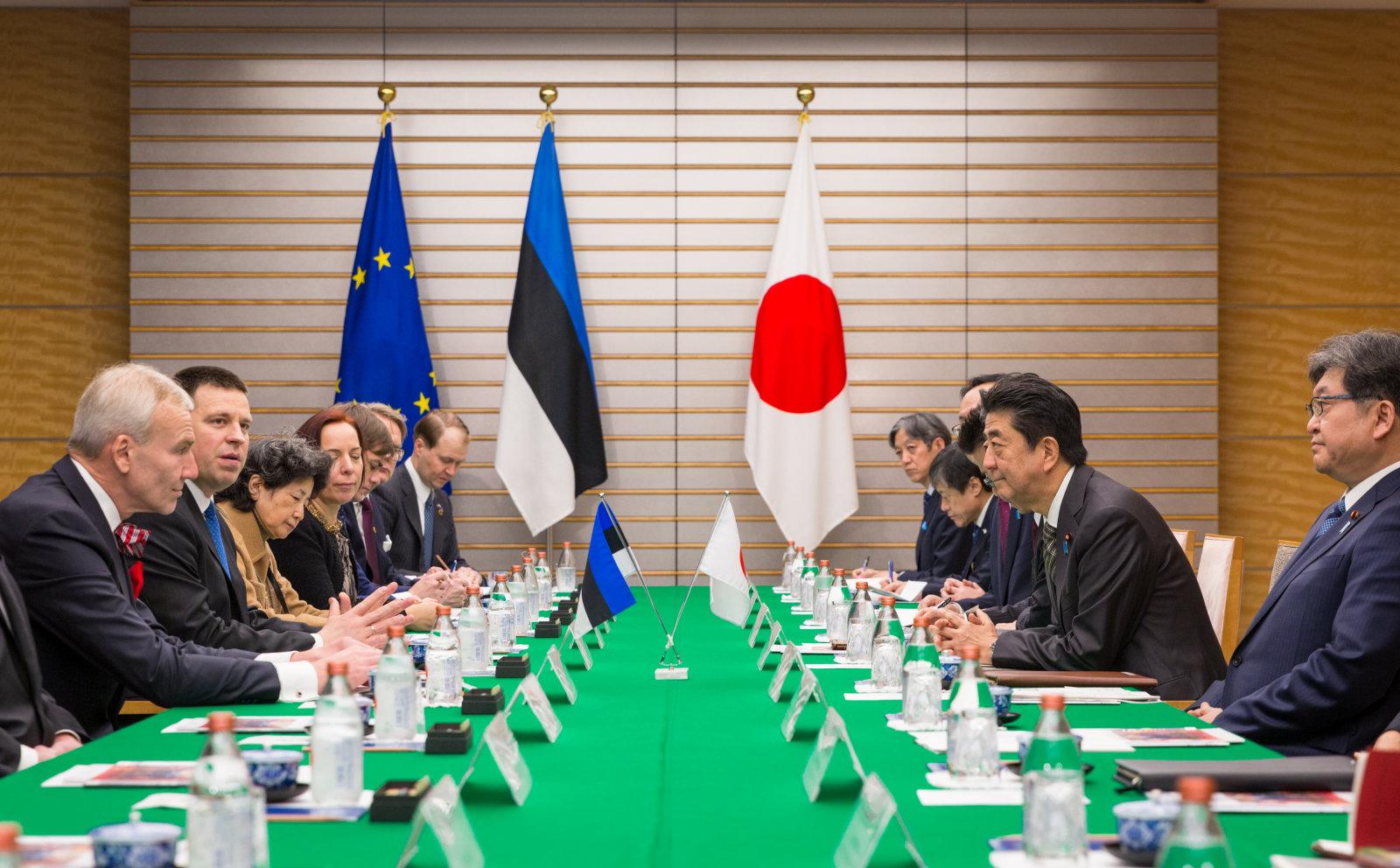 Jüri Ratas:  Eesti soovib Jaapaniga teha koostööd vesinikutehnoloogia arendamisel