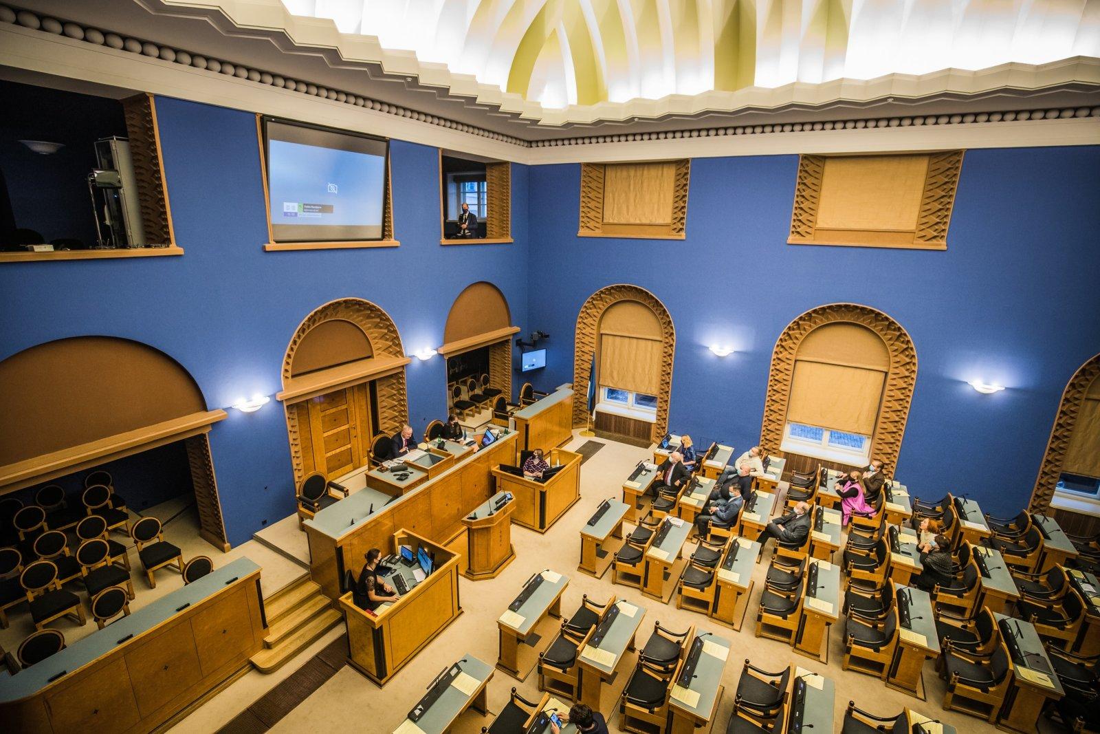 Riigikogu suurde saali jõudis eelnõu, mille eesmärk poliitnõunike rahaasjade avalikustamine